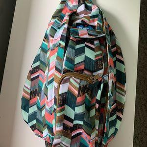 KAVU rope sling bag - coastal blocks full size